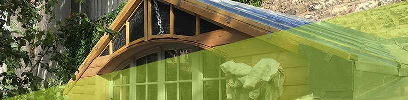 Construction bois – ossature bois d'un abri de jardin