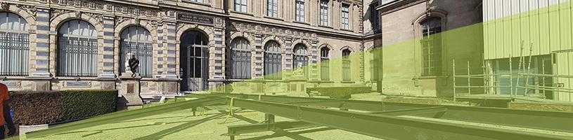 3 chantiers - 3 structures en métal pour le Musée du Louvre
